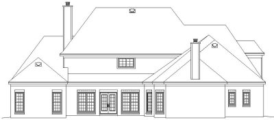 Rear Elevation Plan: 6-1246
