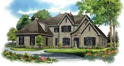 French-country Style Home Design Plan: 6-1250