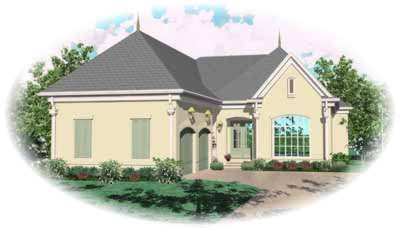 Traditional Style Home Design Plan: 6-1251