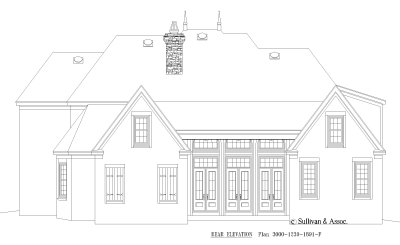 Rear Elevations Plan:6-1255