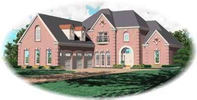 European Style House Plans Plan: 6-1257