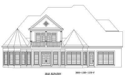 Rear Elevation Plan: 6-1257