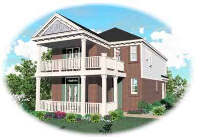 Southern Style Home Design Plan: 6-126