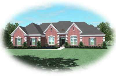 European Style Home Design Plan: 6-1263