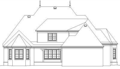 Rear Elevation Plan: 6-1270