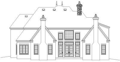 Rear Elevation Plan: 6-1274