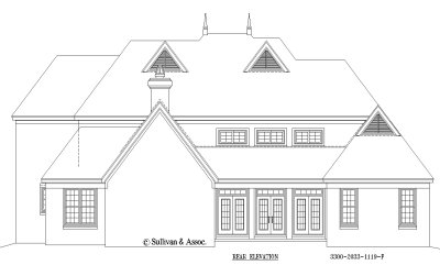Rear Elevation Plan: 6-1284