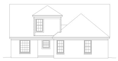Rear Elevation Plan: 6-129