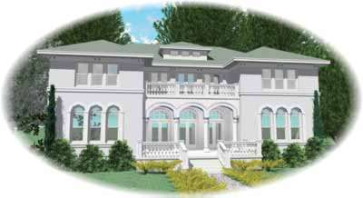 Mediterranean Style Floor Plans Plan: 6-1298