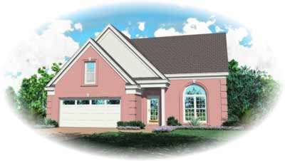 Southern Style Home Design Plan: 6-130
