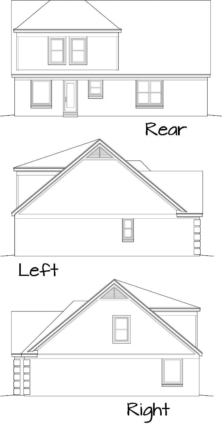 Rear Elevation Plan: 6-132