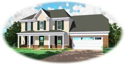 Traditional Style Home Design Plan: 6-134