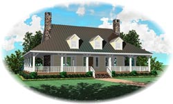 Country Style Floor Plans Plan: 6-1349