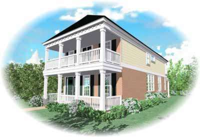 Southern-colonial Style House Plans Plan: 6-136