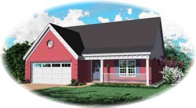 Country Style Home Design Plan: 6-137