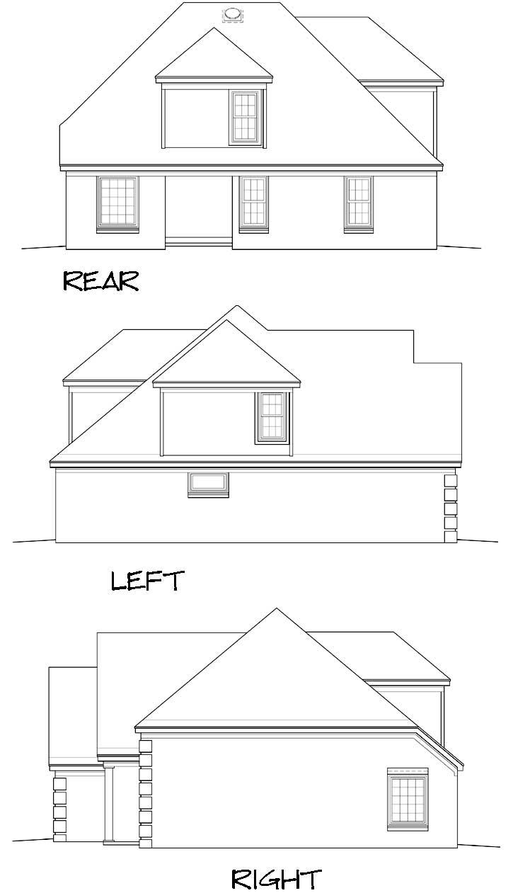 Rear Elevation Plan: 6-138