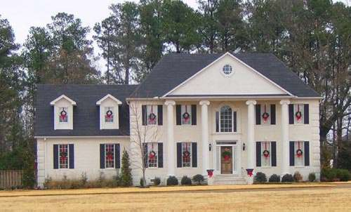 Colonial Style Home Design Plan: 6-1389