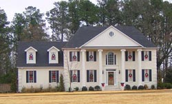 Colonial Style Floor Plans Plan: 6-1389