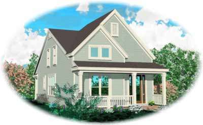 Traditional Style Home Design Plan: 6-150