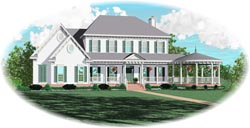 Southern-Colonial Style House Plans Plan: 6-1507