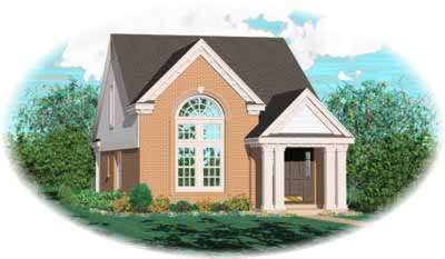 Traditional Style Home Design Plan: 6-151