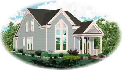 Traditional Style Home Design Plan: 6-152