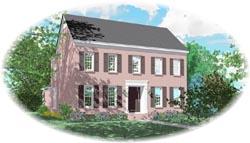 New-England-Colonial Style Floor Plans Plan: 6-1530