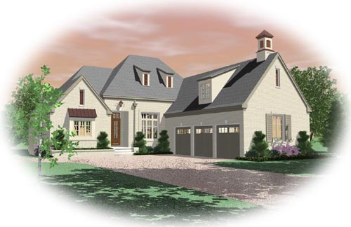 French-Country Style House Plans Plan: 6-1535