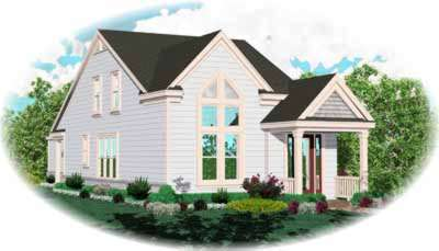 Traditional Style Home Design Plan: 6-157