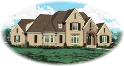 European Style House Plans Plan: 6-1575