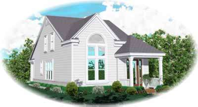 Traditional Style Home Design Plan: 6-158