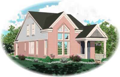 Traditional Style Home Design Plan: 6-161