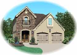 European Style House Plans Plan: 6-1619