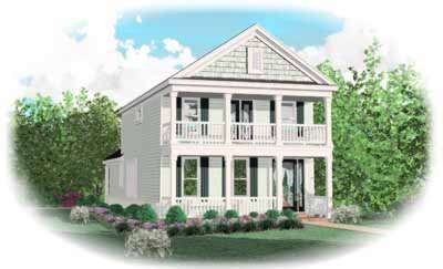 Southern Style Home Design Plan: 6-163