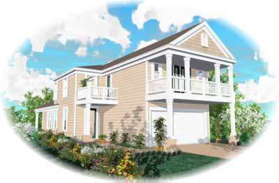Southern-colonial Style House Plans Plan: 6-164