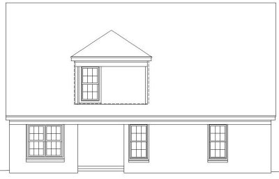 Rear Elevation Plan: 6-165