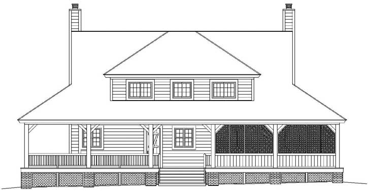 Rear Elevation Plan: 6-1661