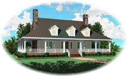 Coastal Style Floor Plans Plan: 6-1661