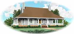 Coastal Style Home Design Plan: 6-1663