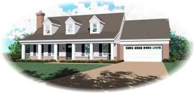 Country Style Floor Plans Plan: 6-174