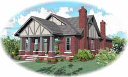 Bungalow Style Home Design Plan: 6-1798