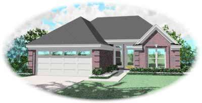 Ranch Style Home Design Plan: 6-182