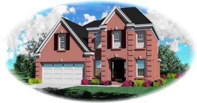 European Style Home Design Plan: 6-186
