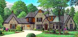 English-Country Style Home Design Plan: 6-1888