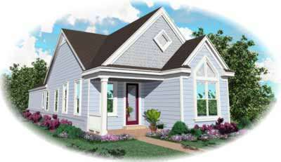 Country Style Floor Plans Plan: 6-190