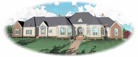 Traditional Style Home Design Plan: 6-1900