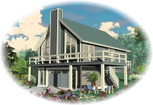 Contemporary Style House Plans Plan: 6-1917