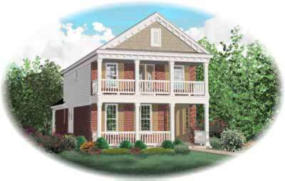 Plantation Style Home Design Plan: 6-193