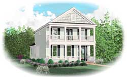 Country Style Home Design Plan: 6-1930