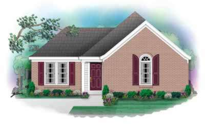 Traditional Style Home Design Plan: 6-197